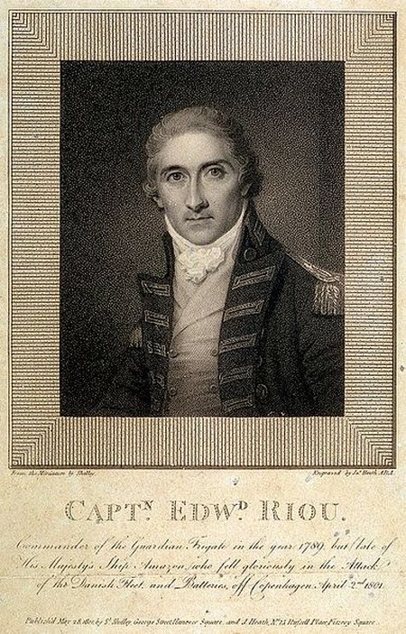 Captain Edward Riou engraving