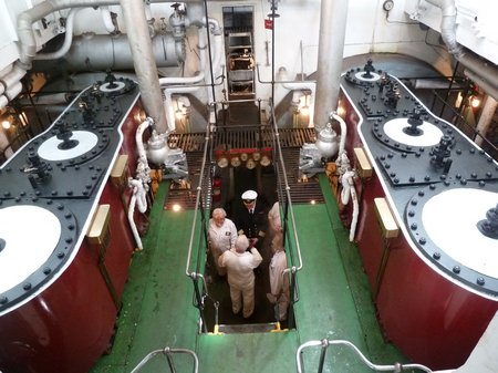 Passengers on-board the Shieldhall are encouraged to visit the 'working parts' of the Ship 20120410 (49)