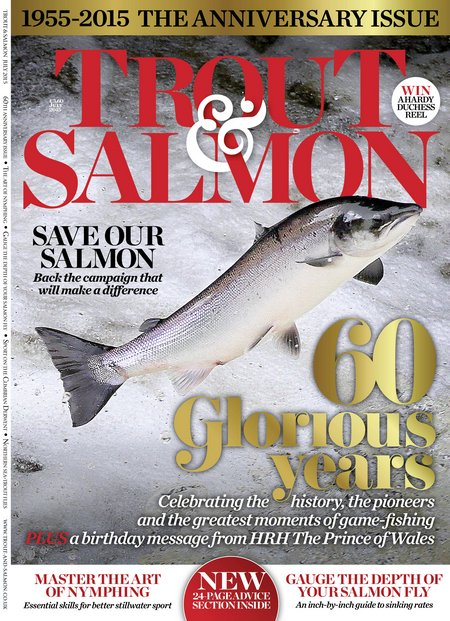 Trout Salmon 60th anniversary front cover