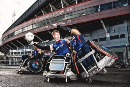 Great Britain Wheelchair Rugby's youth programme was launched at the Millennium Stadium in Cardiff