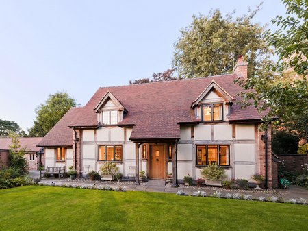 Traditional oak frame home